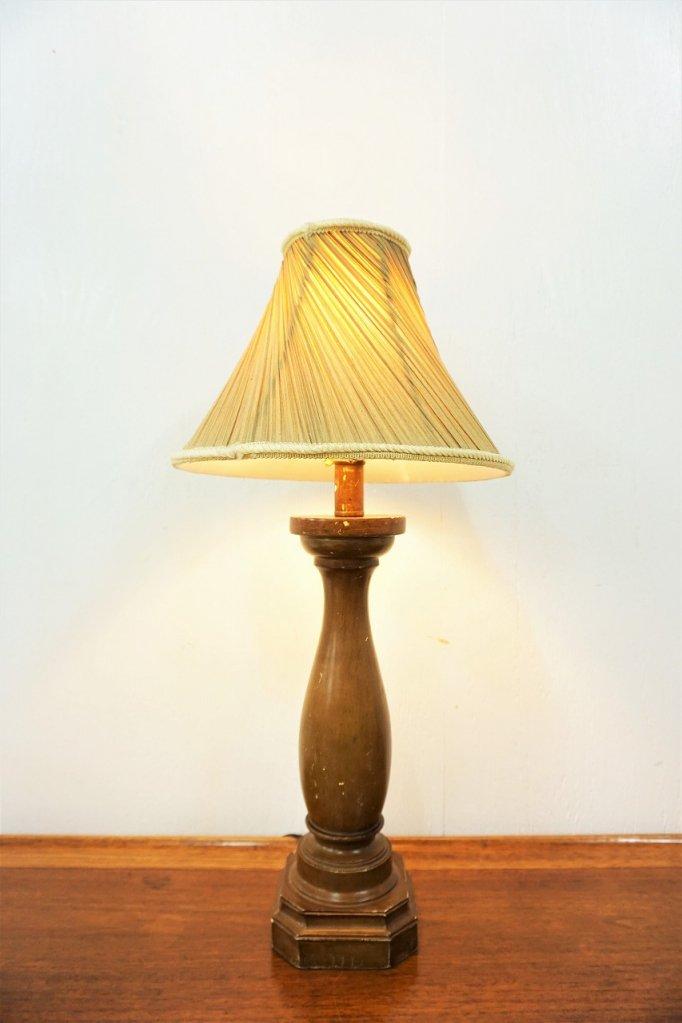 ヴィンテージ ウッド テーブルランプ