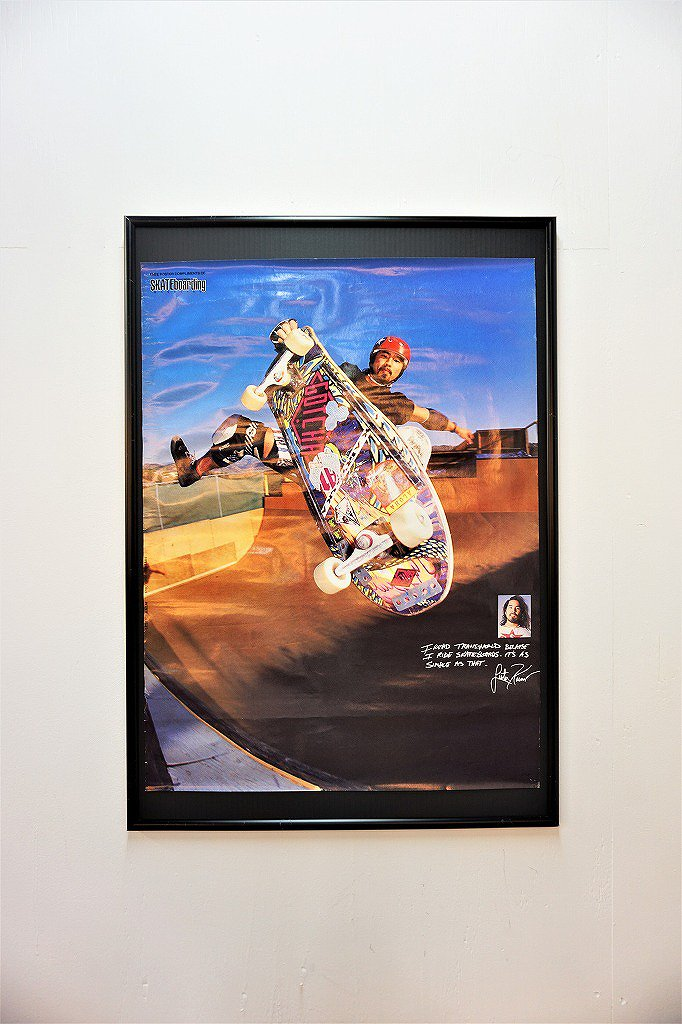 1980's Transworld Skateboarding 額入りポスター
