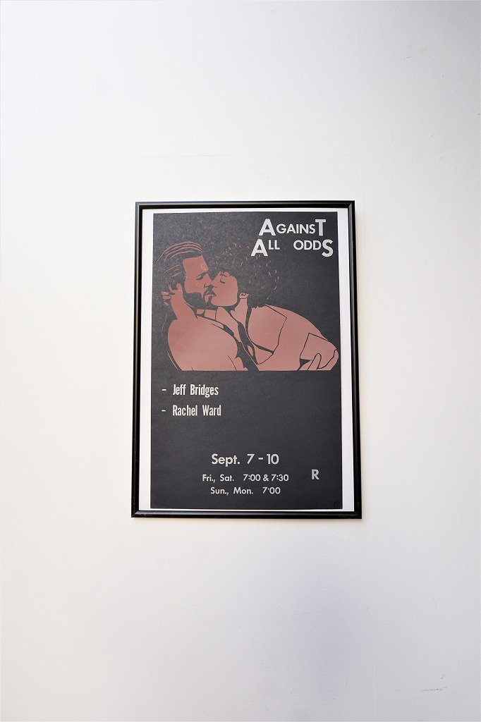 1980's Against All Odds 額入りポスター