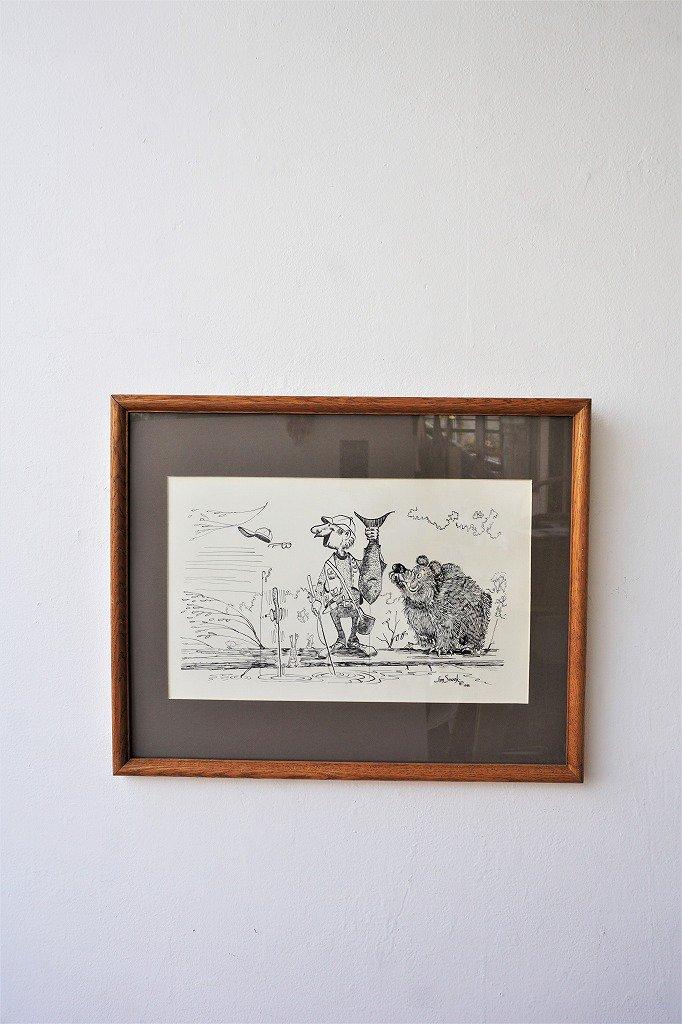 1980's Jim Snook ヴィンテージ 額入りポスター