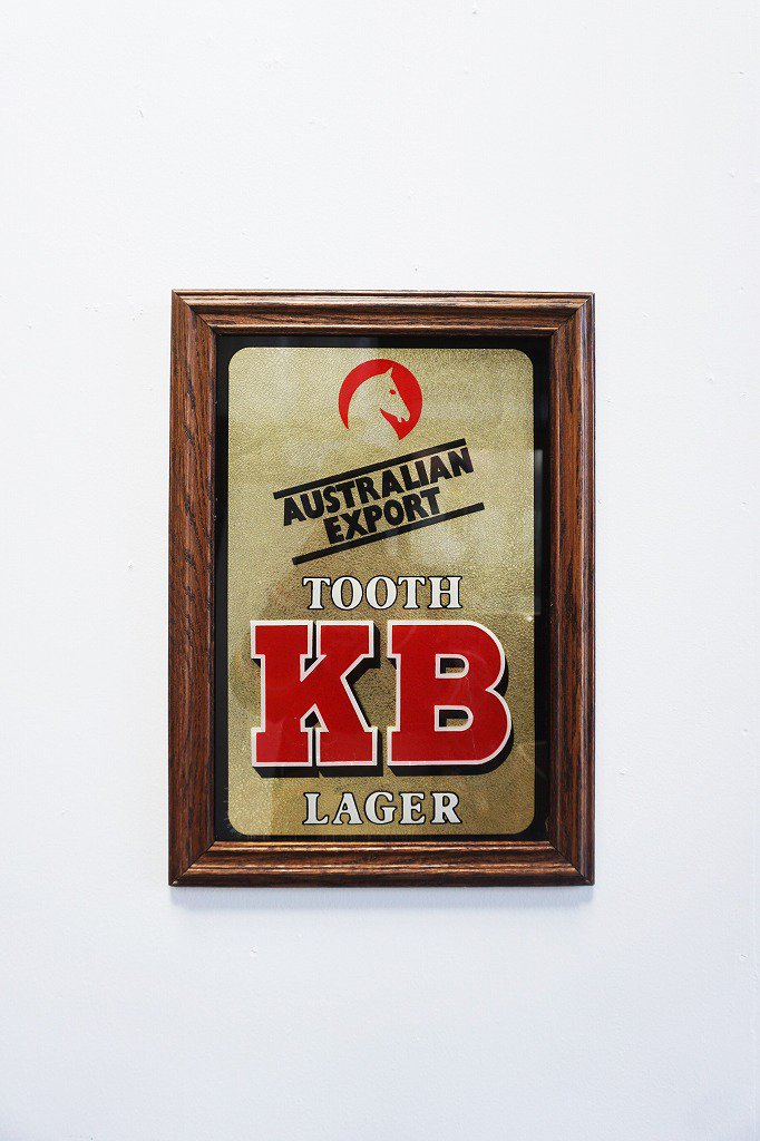 ヴィンテージ Tooths KB Lager サイン/ 看板