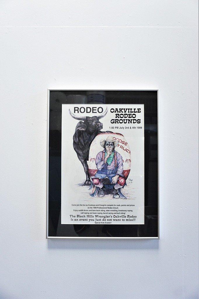 1990's ヴィンテージ OAKVILLE RODEO 額入りポスター