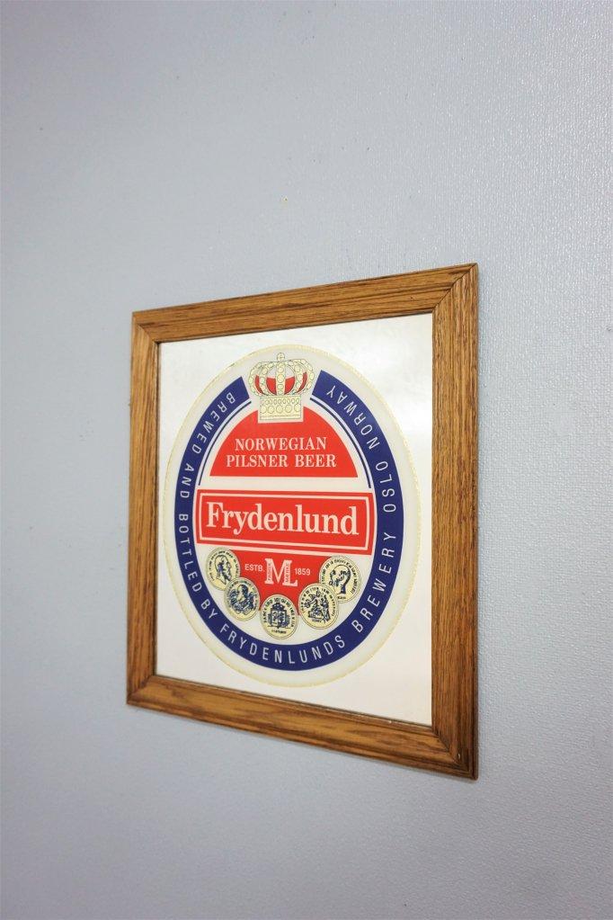 ヴィンテージ Frydenlund Brewery パブミラー