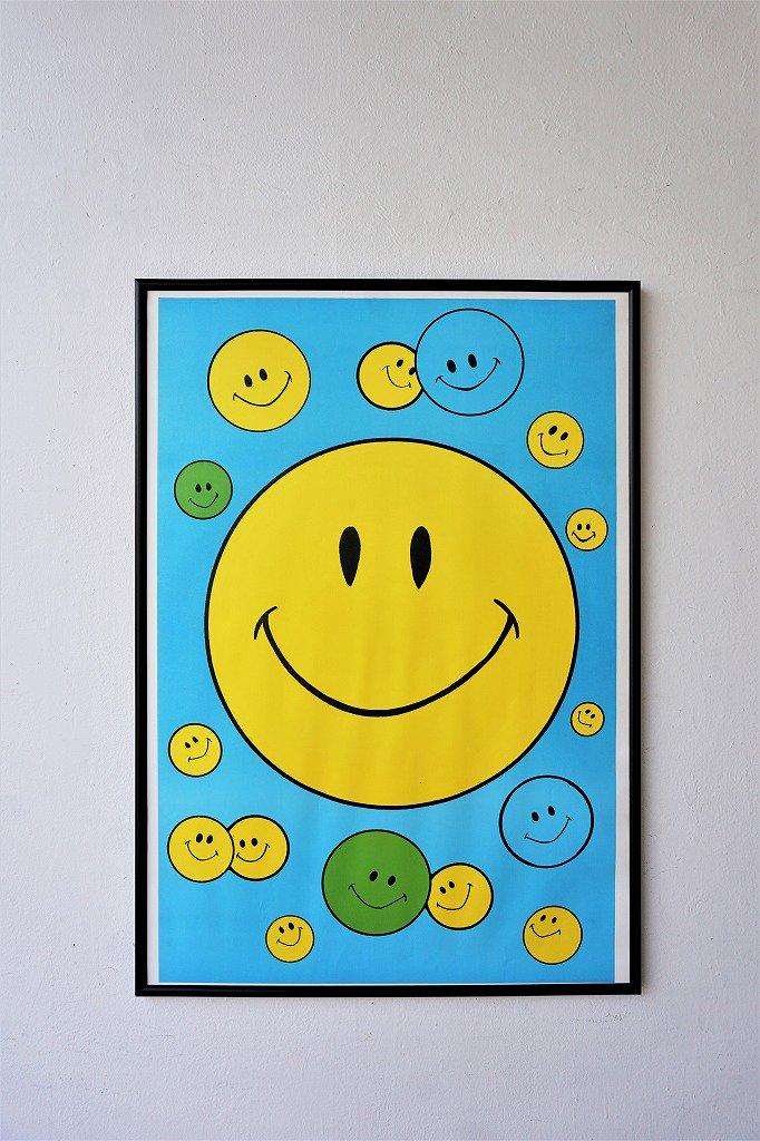 1970's スマイリーフェイス 額入りポスター