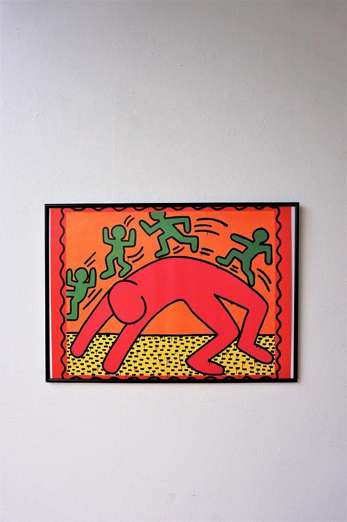 ヴィンテージ Keith Haring 額入りポスター