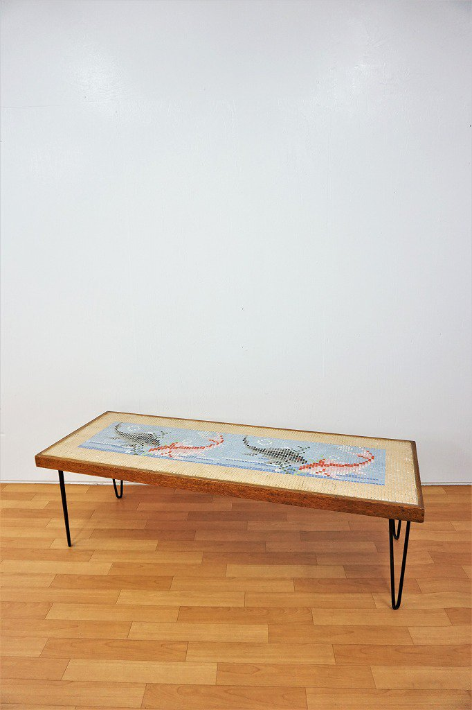 1950's ヴィンテージ タイルトップ ローテーブル
