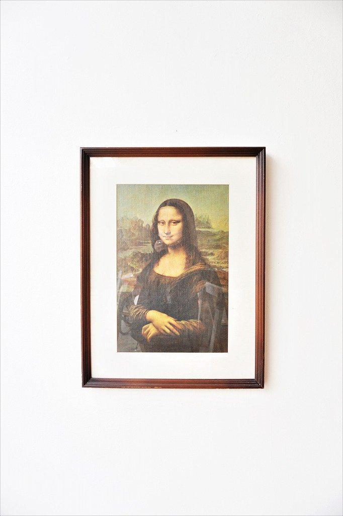 ヴィンテージ Mona Lisa 額入りポスター
