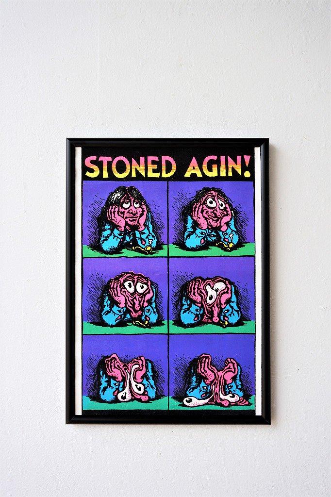 1970's ヴィンテージ STONED AGIN 額入りポスター