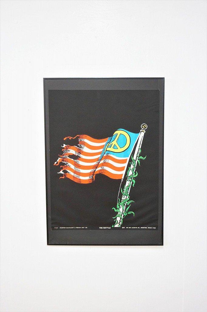 """1960's ヴィンテージ """"THE BATTLE"""" ブラックライト ポスター"""
