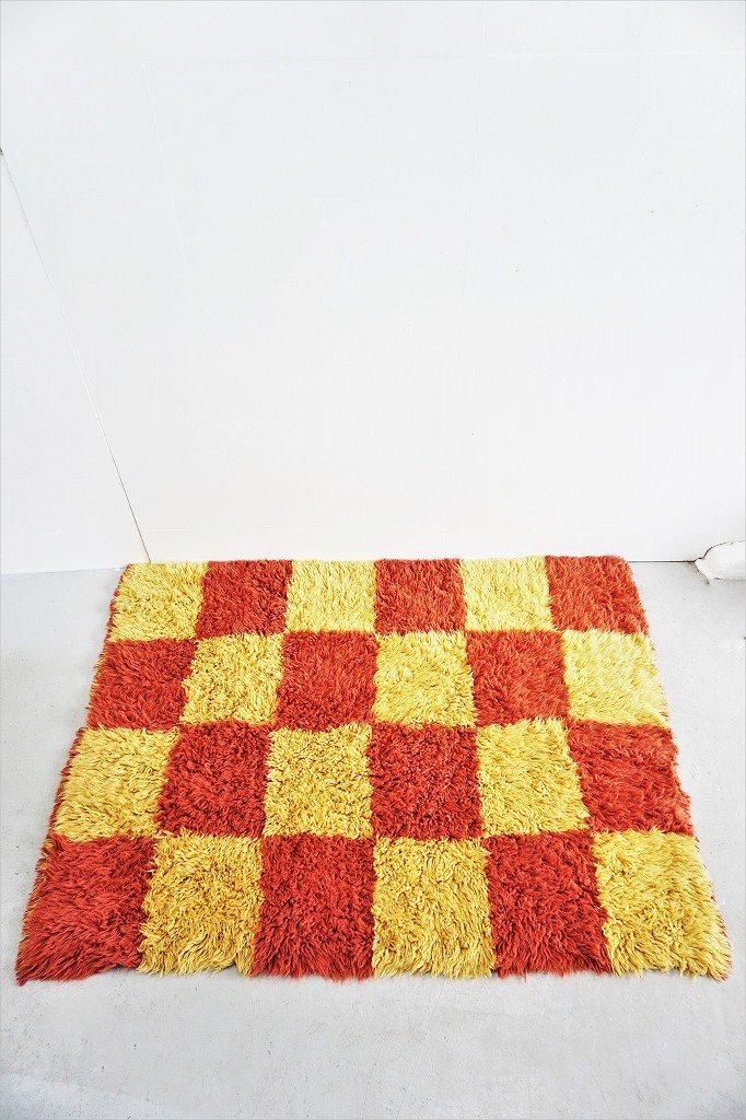 1960-70's ヴィンテージ シャギー ラグ