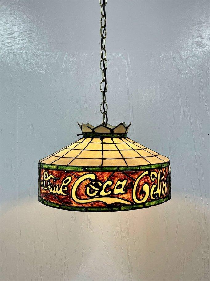 1970's ヴィンテージ Coca Cola シェード ペンダントランプ