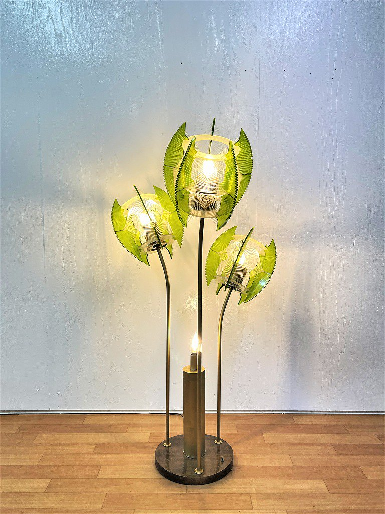 1960-70's ヴィンテージ ミッドセンチュリー 4灯 フロアランプ