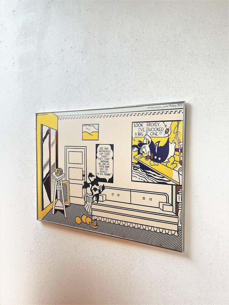 1970's Roy Lichtenstein ヴィンテージ 額入りポスター