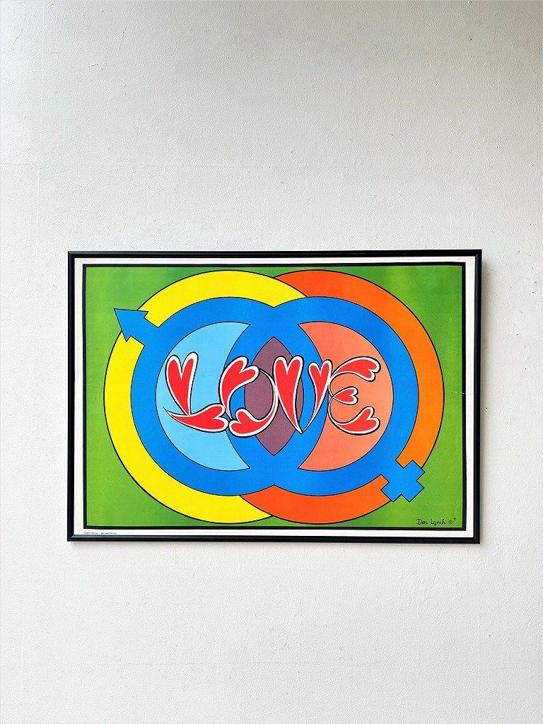 1970's ヴィンテージ LOVE 額入り ポスター