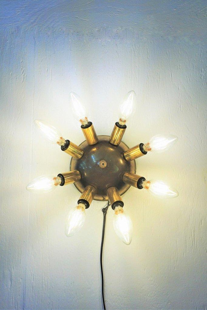 1950's ヴィンテージ 8灯 スプートニク ブラケットランプ�