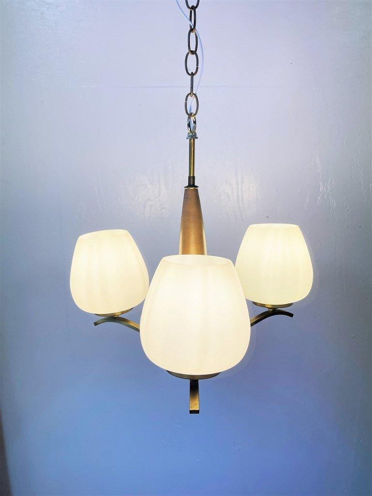 1950-60's ヴィンテージ 3灯 シャンデリア