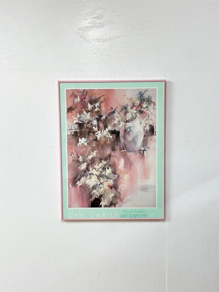 1980's ヴィンテージ Len Garon 額入りポスター