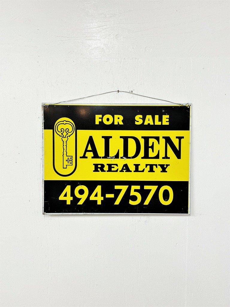 ヴィンテージ ALDEN REALTY サイン/看板