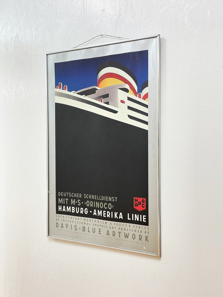 1980's ヴィンテージ モダンアート 額入りポスター