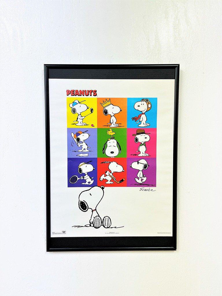Peanuts-Snoopy 額入りポスター