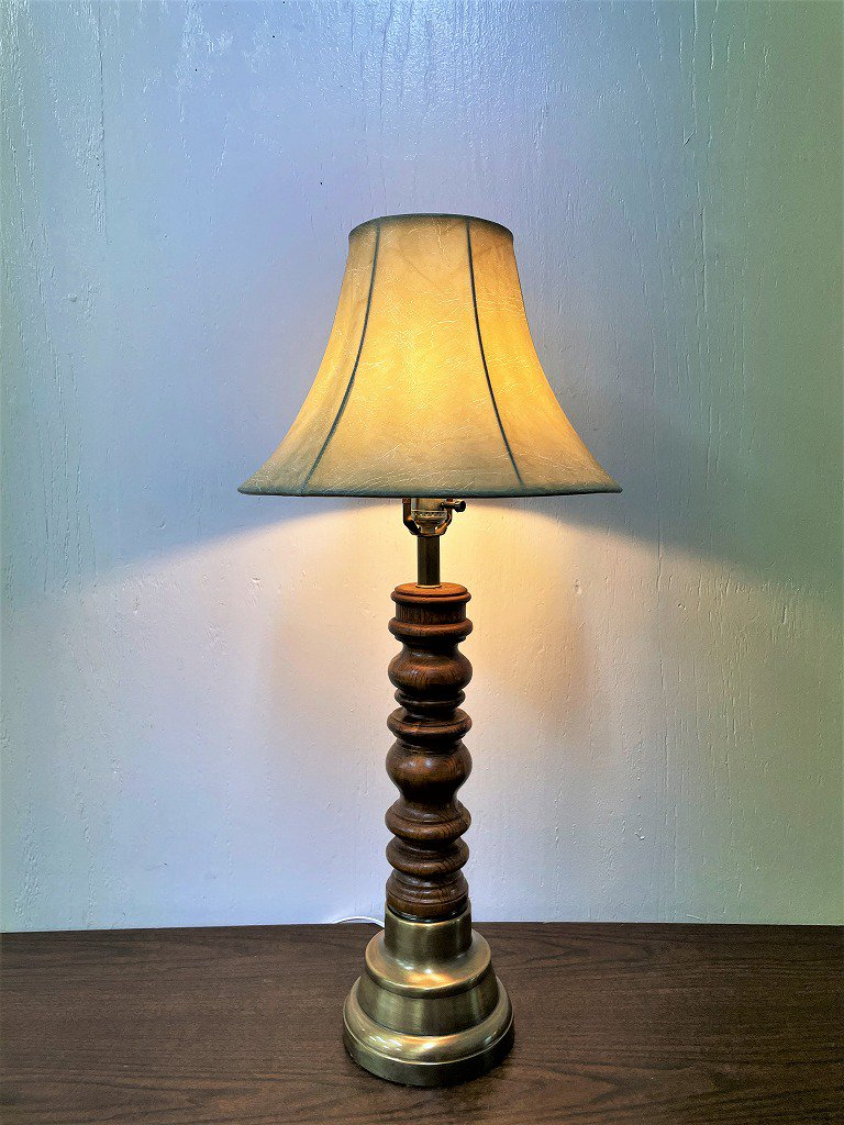 ヴィンテージ ウッドベース テーブルランプ