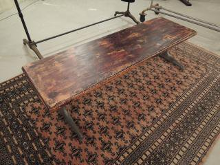 古材リメイクローテーブル
