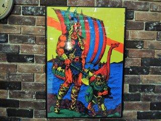 """1970's ヴィンテージ ブラックライトポスター""""THE VIKING""""(複数在庫有り)"""