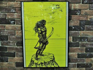 "1969's ヴィンテージ ブラックライトポスター""Warrior �"""