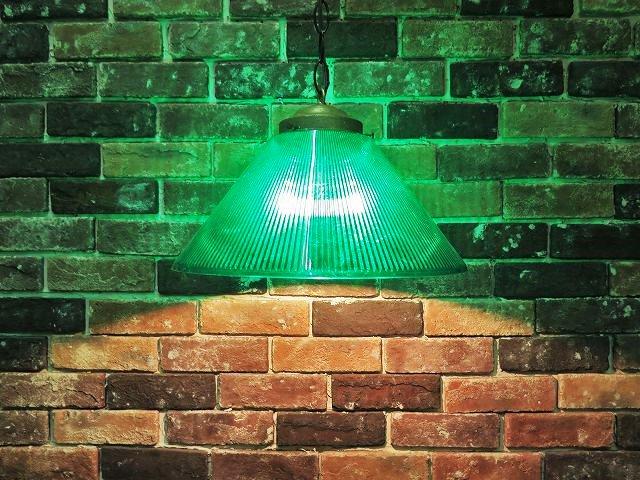 ヴィンテージ グリーン シェード ペンダント ランプ