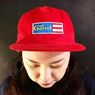 """GARRET""CORDUROY CAP(RED)"