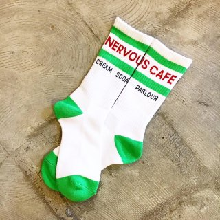 """NERVOUS CAFE""SOX(WHITE)"