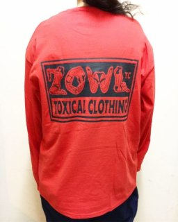 """ZOWL""L/S TEE(RED)"