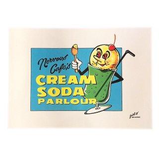 """CREAM SODA PARLOUR""POSTER(A3)"
