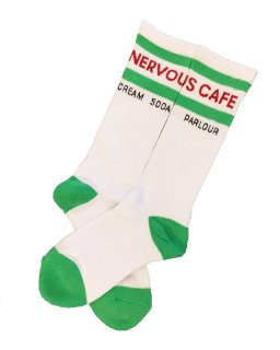 """NERVOUS CAFE""HIGH SOX(WHITE)"