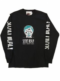"""SECRET DEAL""L/S TEE(BLACK)"