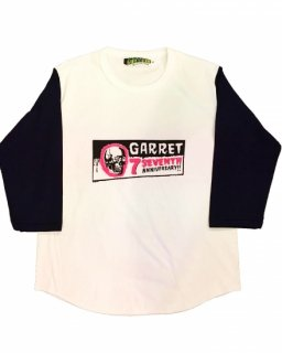 """GARRET 7th""3/4 SLEEVE TEE(WHITE)"
