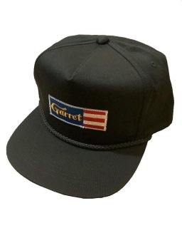 """GARRET""5PANEL SNAPBACK(BLACK)"