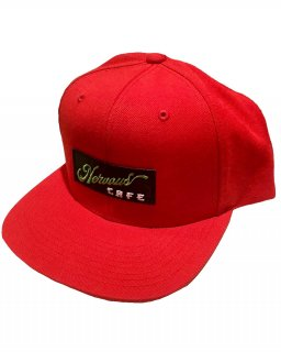 """NervousCafe""6PANEL SNAPBACK(RED)"