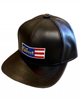 """GARRET""6PANNEL LEATHER CAP"