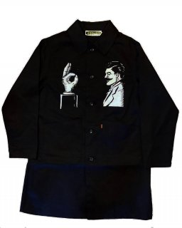 """Service with a Smile"" engineer coat(BLACK)"