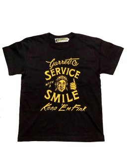 """Service with a Smile""S/S TEE(BLACK)"