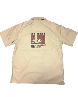 """GET HOT""S/S SHIRT(BEIGE)"