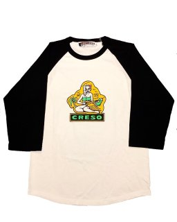 """CRESO""3/4 SLEEVE TEE(WHITE)"