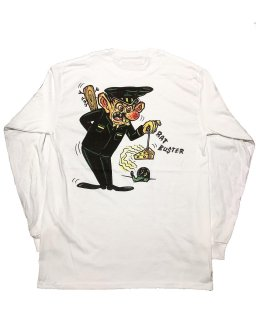 """RAT BUSTER""L/S TEE(WHITE)"
