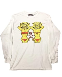 """Welcome""L/S TEE(WHITE)"