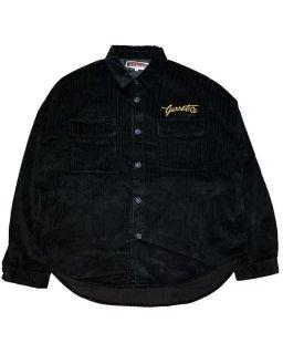 """GARRET.co""CORDUROY SHIRT(BLACK)"