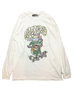 """MONSTER ATTACK×CRESO""L/S TEE(WHITE)"