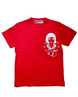 """LouiseBrooks""cottonpickin×GARRET S/S TEE(RED)"