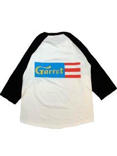 """GARRET LABEL""3/4 SLEEVE TEE(WHITE)"