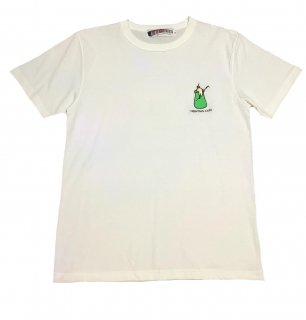 """""""CRESO""""embroidery S/S TEE(WHITE)"""